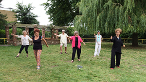 Tai Chi in St Annes Well Gardens 5